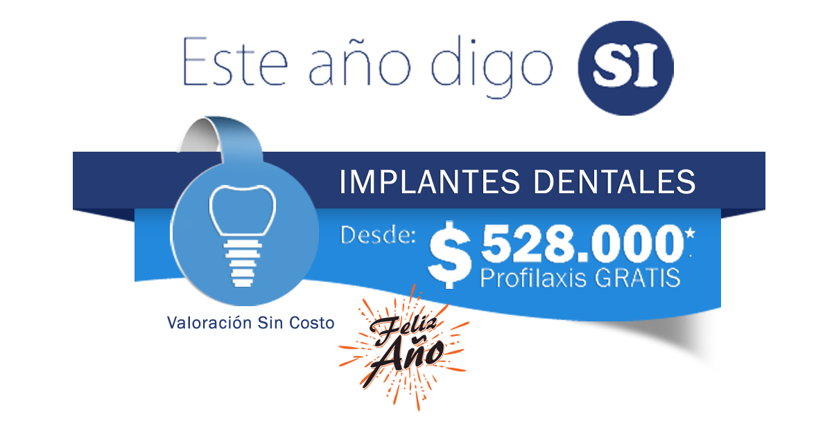 valor costo de un implante dental